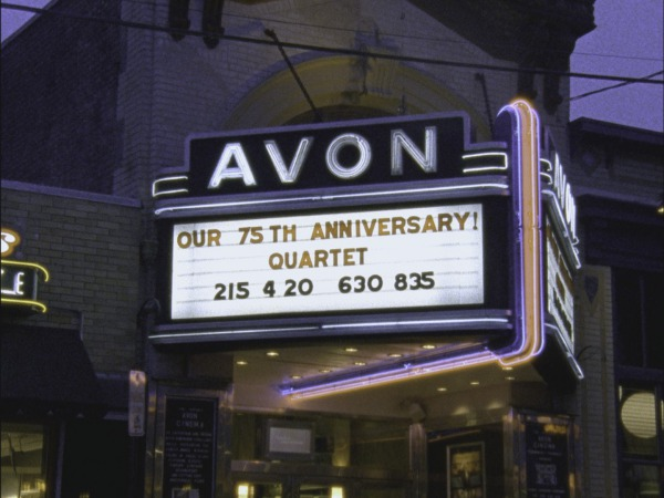 [Avon Cinema marquee at dusk]